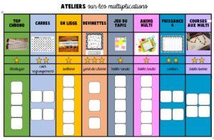 Boite: Tables de multiplication mélangées