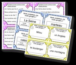 cartes a taches sur les noms communs et propres