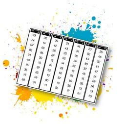 Cartes en bande: Les tables de multiplication